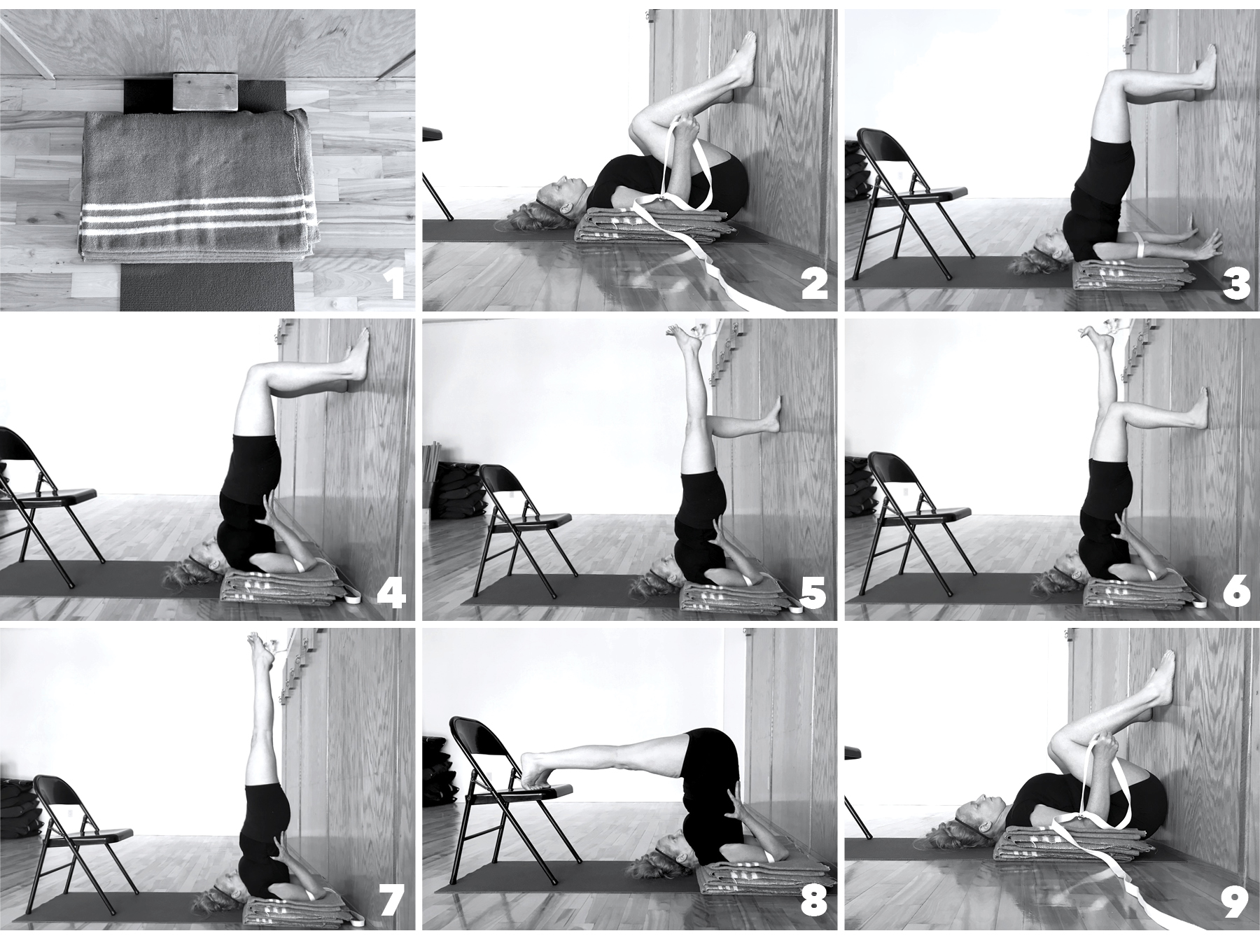 Step-By-Step Sarvangasana and Halasana Sequence (Variation)